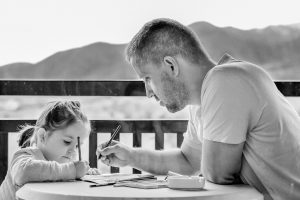 A father with a daughter, child custody family law attorney