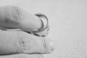 A marriage ring, divorce post-nuptial agreement