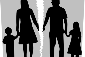 Cartoon illustration of divorce