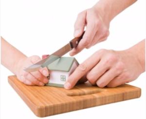 Using a knife dividing an asset model