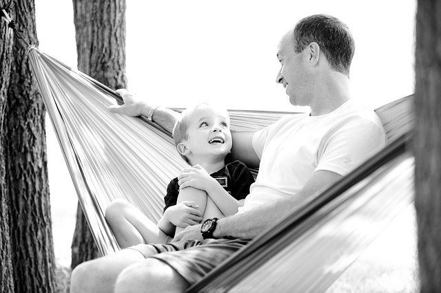 Father with his son having a happy time